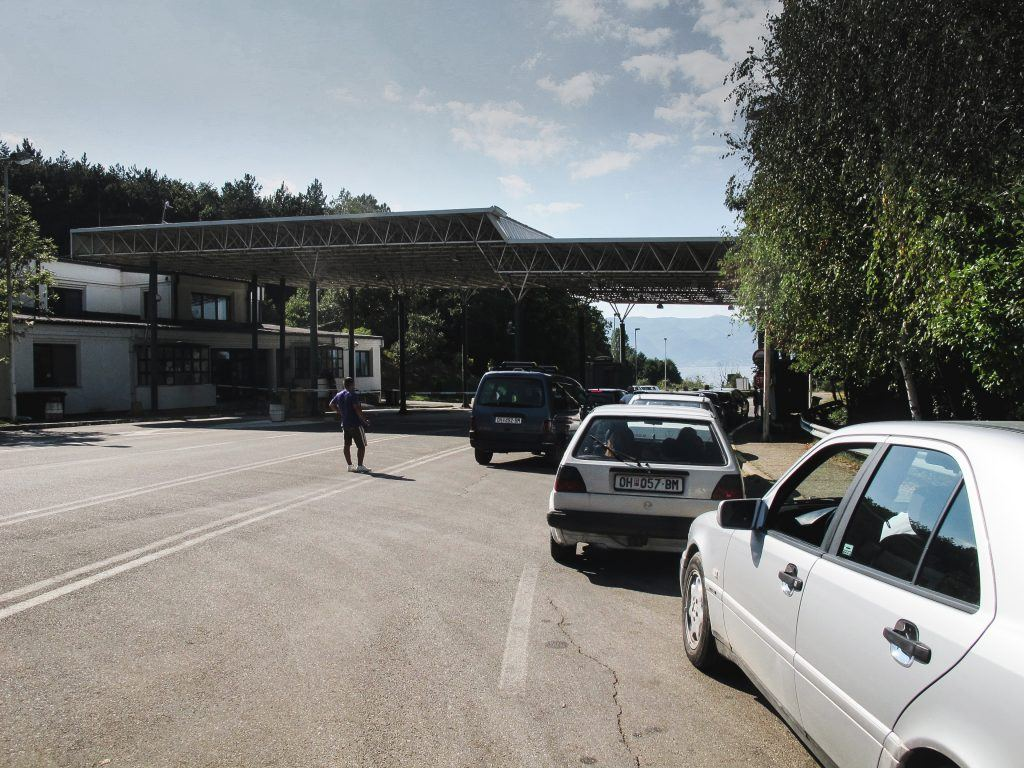 Albania border on Lake Ohrid