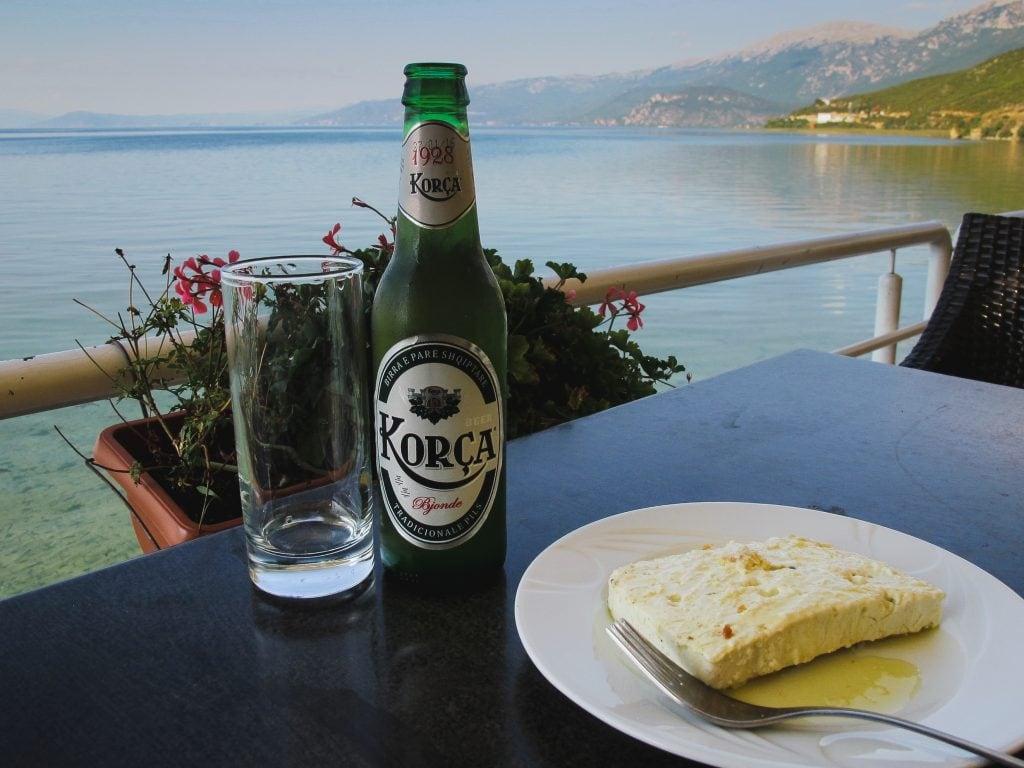 Meal in Tushemisht, Albania