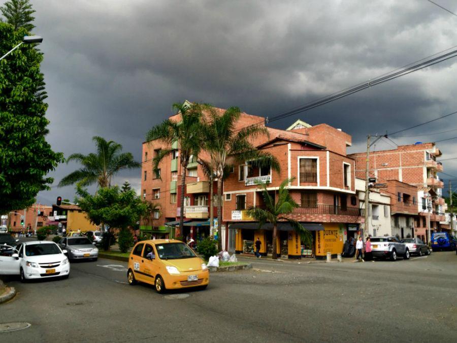 Stormy skies over Medellin