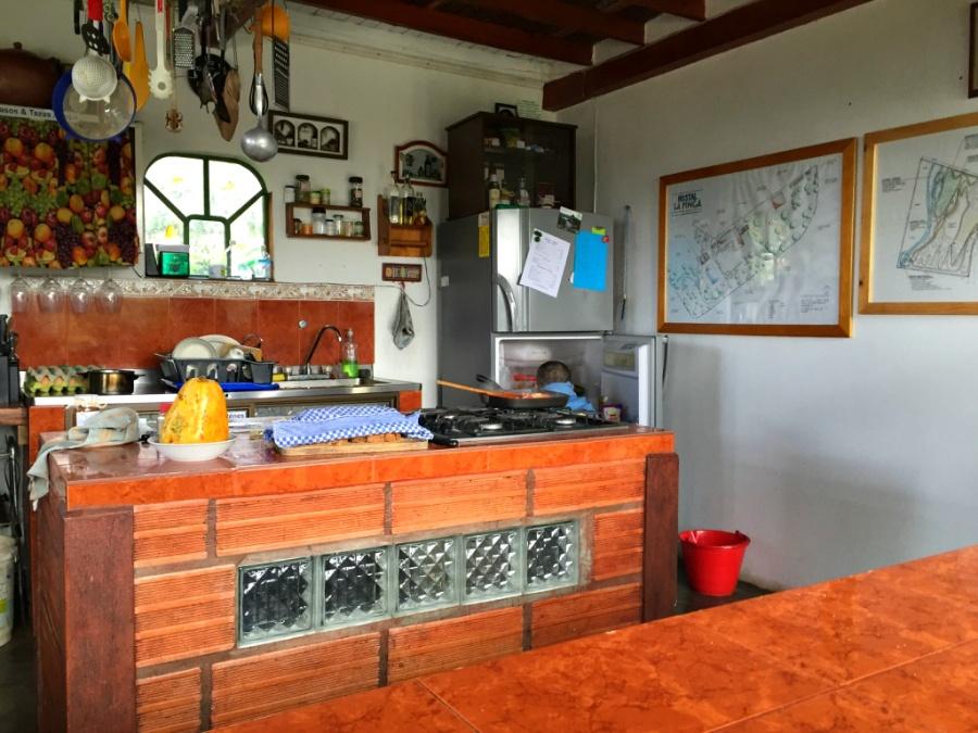 Hostal La Finca's kitchen