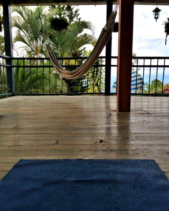 Sunrise yoga at Hostal La Finca