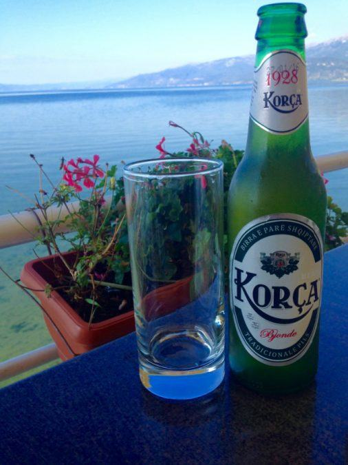 Beer in Tushemisht on Lake Ohrid
