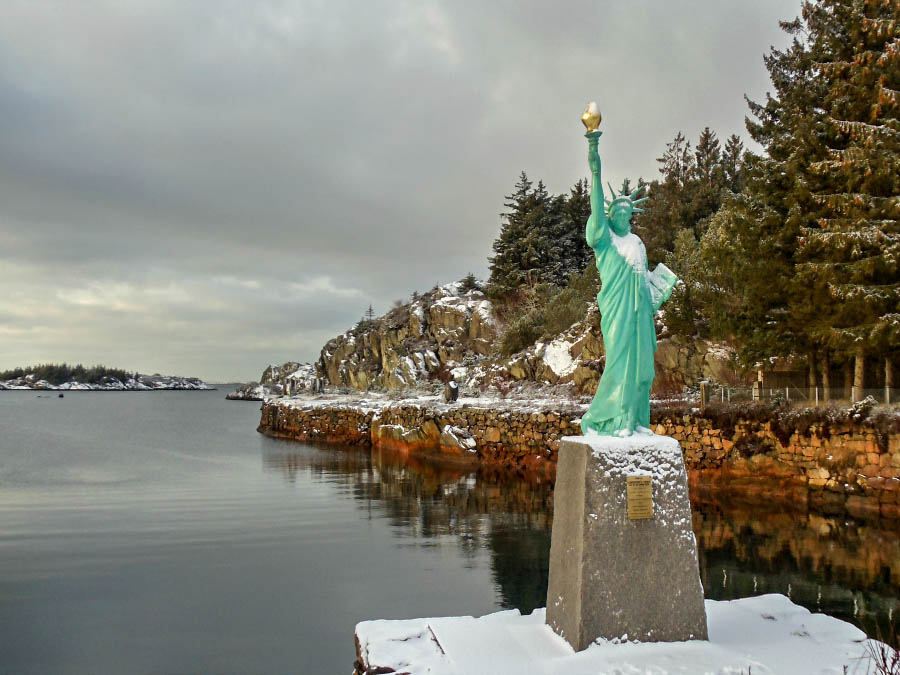 Statue of Liberty's birthplace in Visnes, Norway