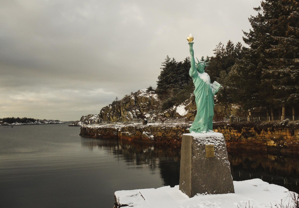 Exploring the History of the Statue of Liberty in Visnes Norway
