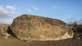 Traveling to the Archaic Petroglyphs in Cholpon-Ata, Kyrgyzstan