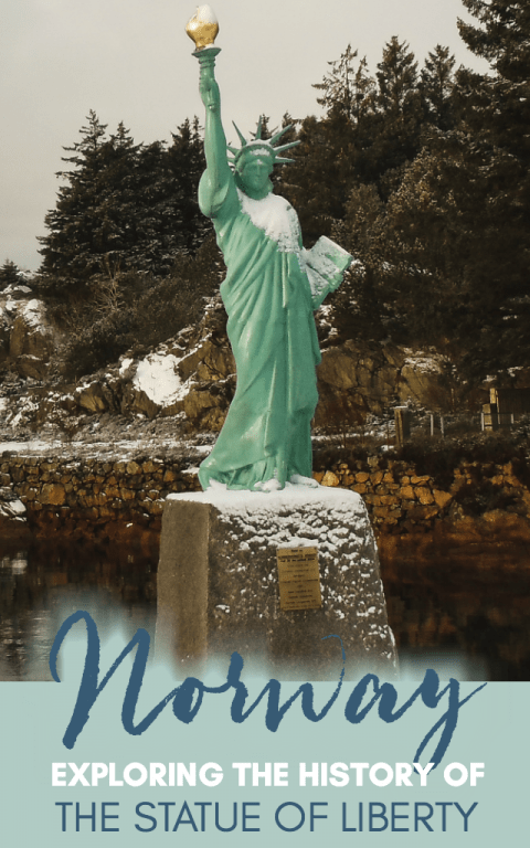 The Statue of Liberty is an iconic symbol of freedom in the United States. What many do not realize is that the history of the Statue of Liberty actually began in a small mining village in western Norway in a village called Visnes. This post discusses that village and how to get there when visiting Norway. #norway #statueofliberty #scandinavia #offthepath