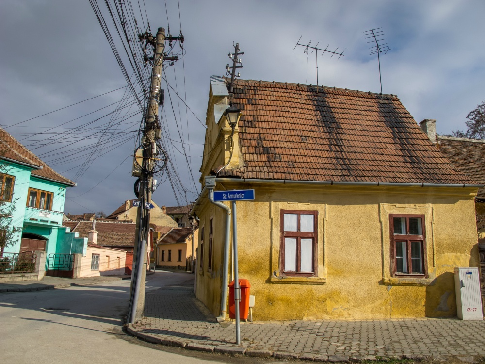 Charming streets of Medias, Romania
