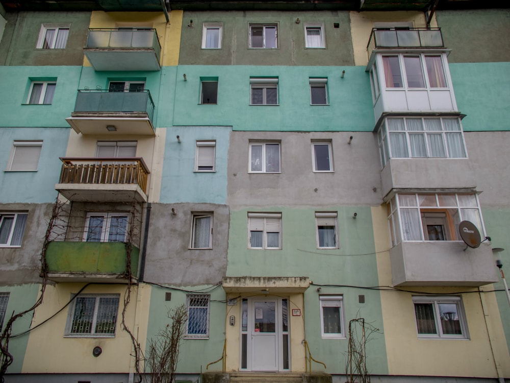 Apartment block in Medias, Romania