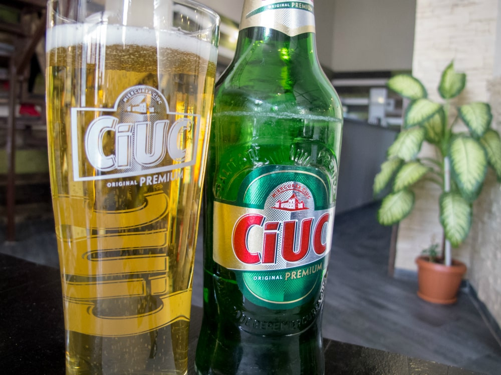 Ciuc beer in Medias, Romania