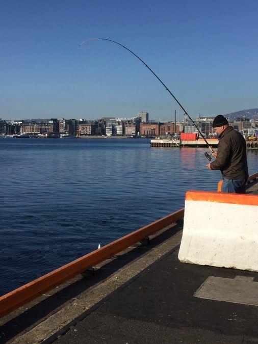 Fishing along the Oslo Fjord