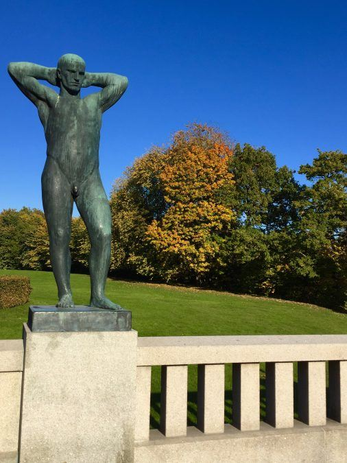 Looking sexy in Oslo's Frognerparken (or Vigelandsparken) on an autumn day