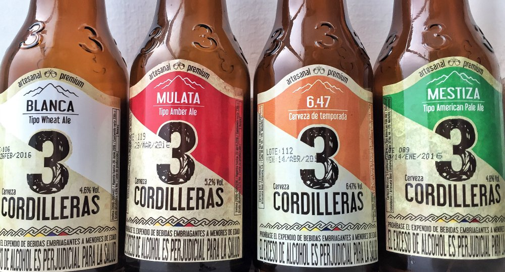 3 Cordilleras craft beer in Medellin, Colombia