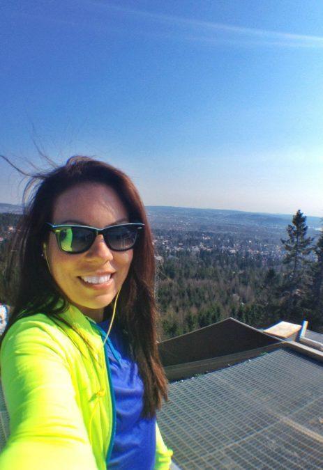 Selfie overlooking Oslo