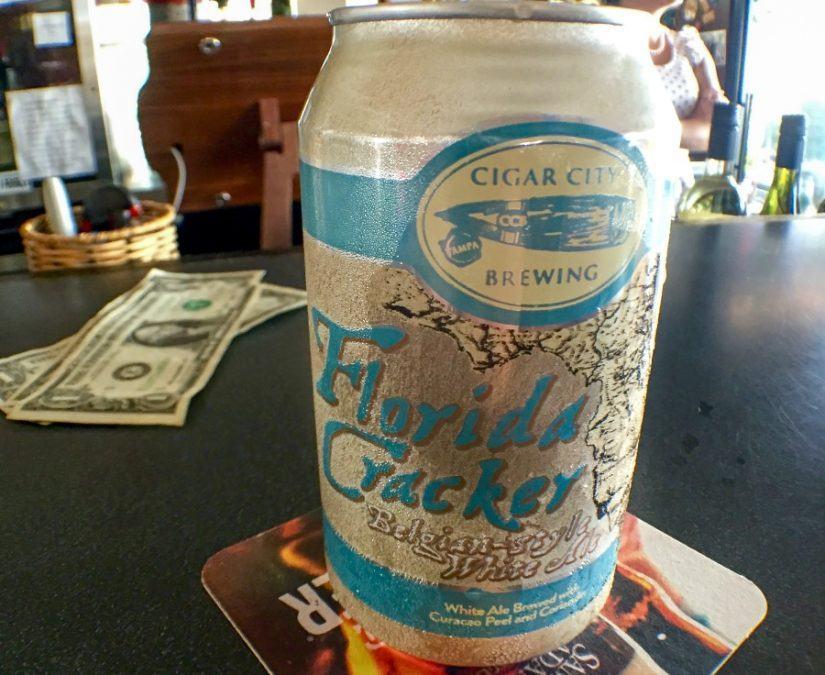 """Cigar City's """"Florida Cracker"""" served at Cork and Stogies in Key West, Florida"""