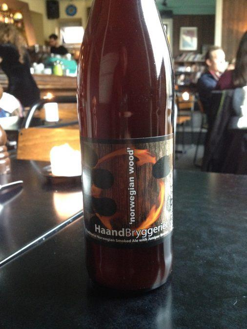 Haandbryggeriet's Norwegian Wood at Cafe Laundromat in Oslo
