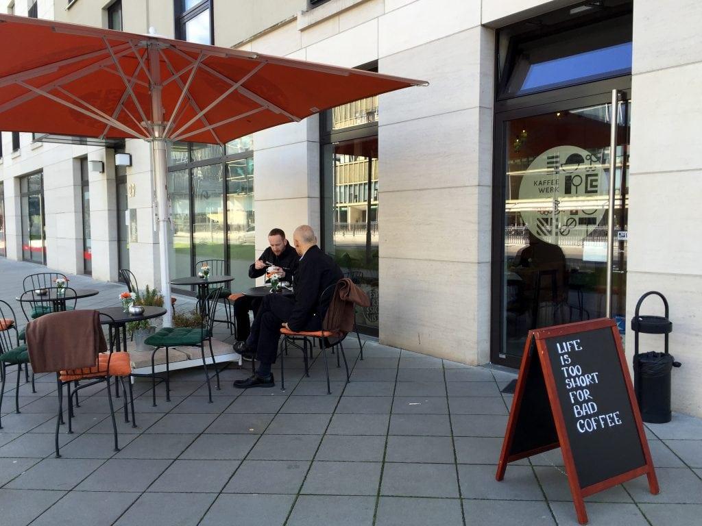 Kaffeewerk Espressionist terrace in Frankfurt, Germany