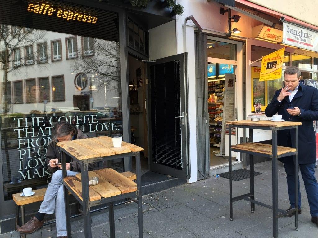Outside of The Espresso Bar in Frankfurt