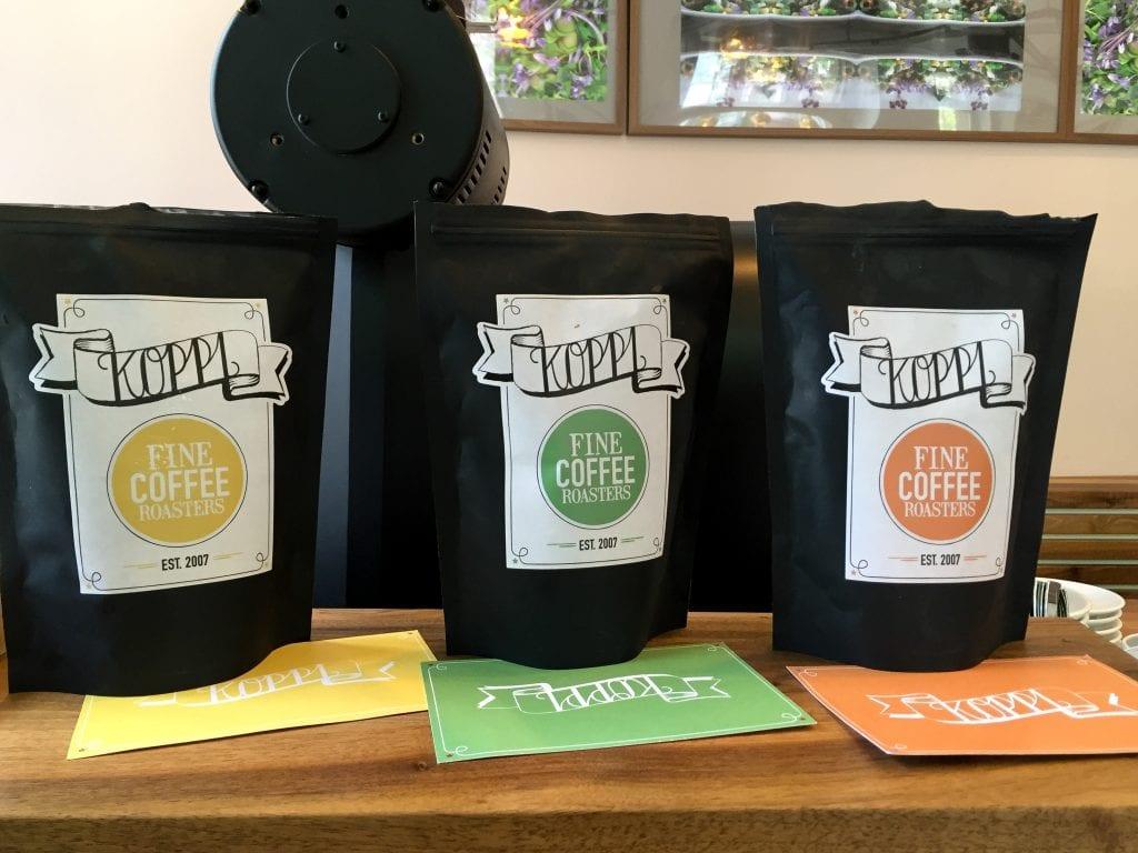 Koppi coffee from Sweden in Tortenengel in Nordend-Ost in Frankfurt, Germany