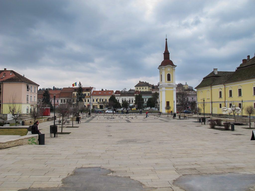 Theatre Square in Targu Mures, Romania