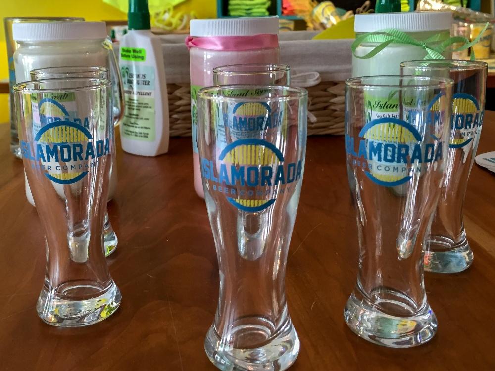 Merchandise galore at Islamorada Beer Company in the Florida Keys