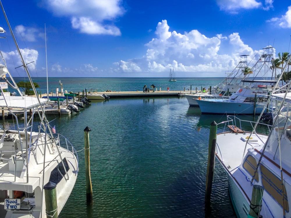 Boats on Islamorada in the Florida Keys