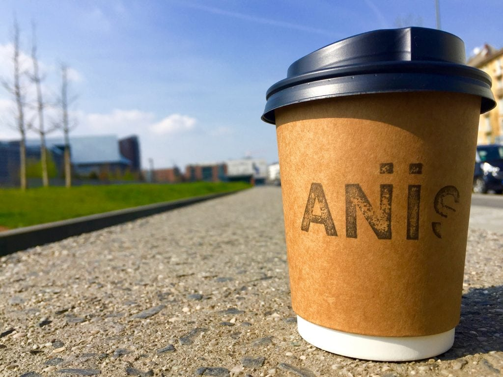 Aniis coffee in Frankfurt, Germany to go