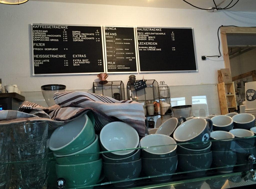 Bunca for coffee in Frankfurt, Germany