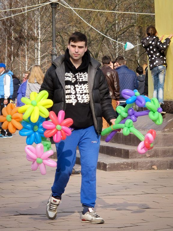 Pobeda Park in Tiraspol, Transnistria for Maslenitsa