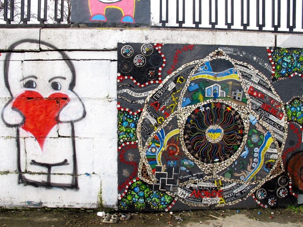 Promenade street art in Dnipropetrovsk, Ukraine