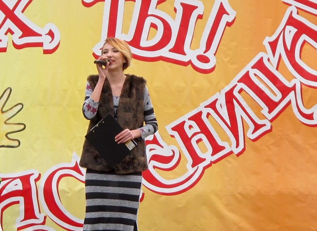 Karaoke in Pobeda Park in Tiraspol, Transnistria for Maslenitsa