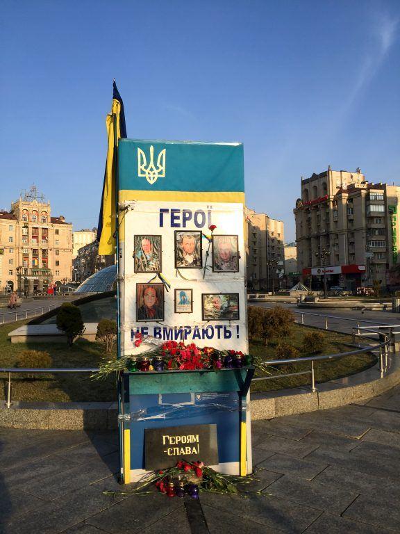Scenes around Maidan in Kiev