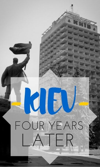 I have recently ventured back to Kiev four years after my initial visit and found a completely different and more inspiring city.