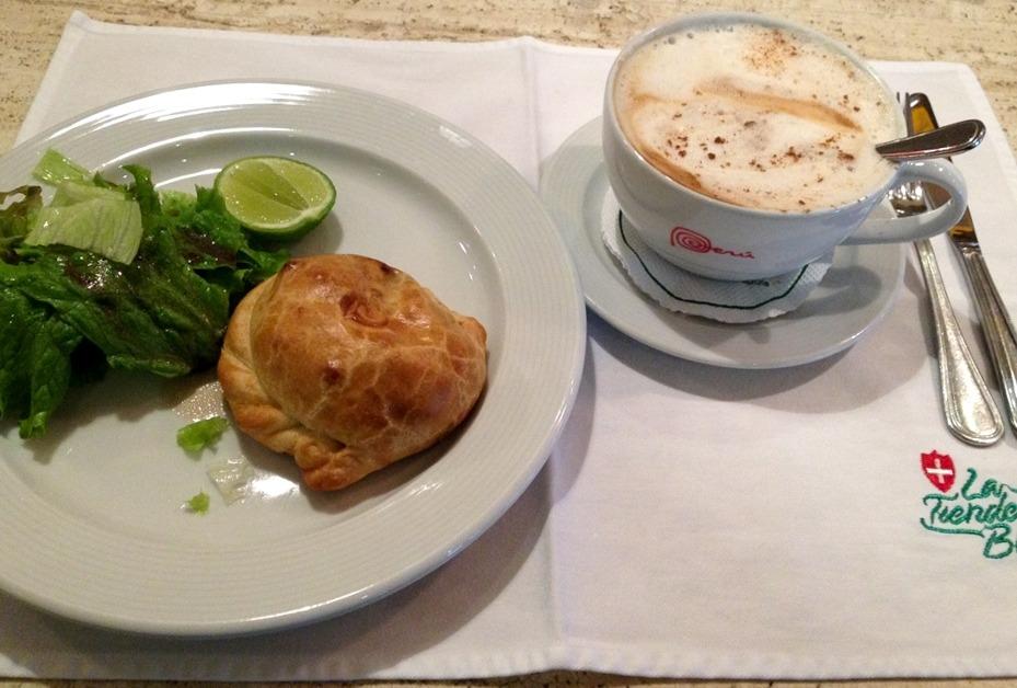 Breakfast in Miraflores in Lima, Peru