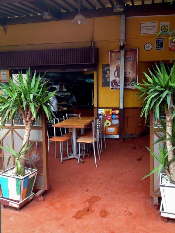 cafe in Miraflores in Lima, Peru