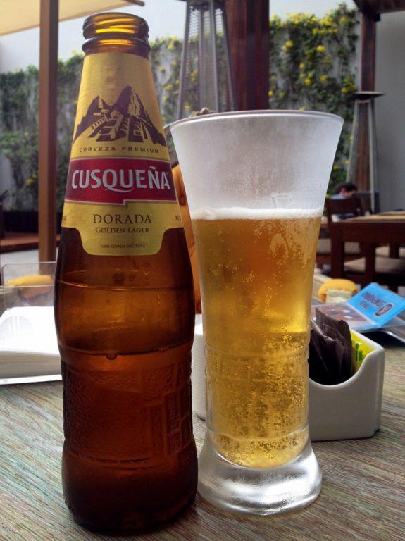 Cusquena Beer in Miraflores in Lima, Peru
