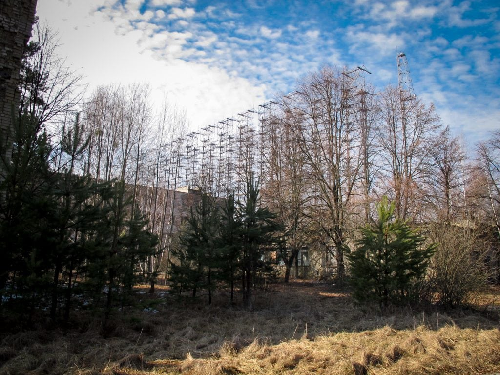 Russian Woodpecker or Duga inside the Chernobyl Exclusion Zone