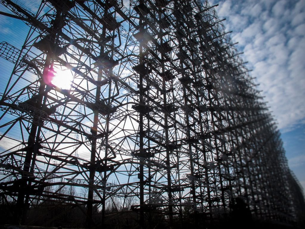Duga or the Russian Woodpecker in the Chernobyl Exclusion Zone