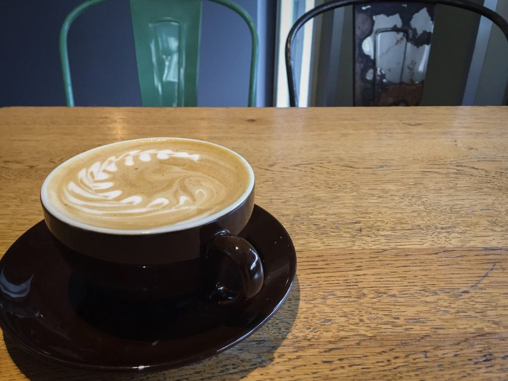 Flat white at Rosterei Vier in Dusseldorf