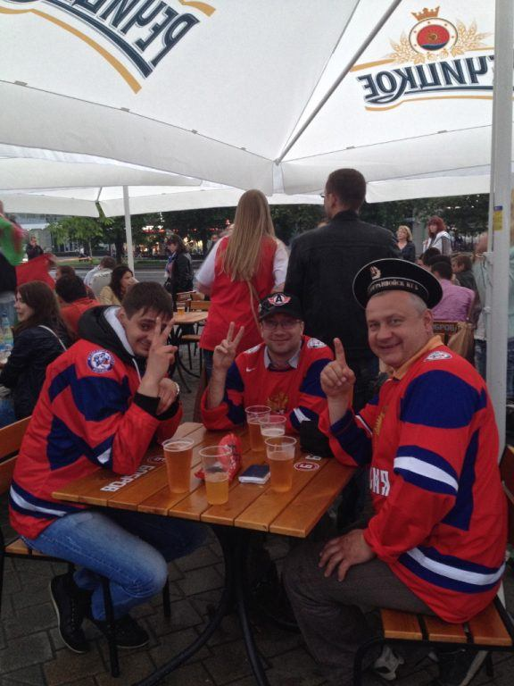 Russia Hockey Fans Minsk, Belarus