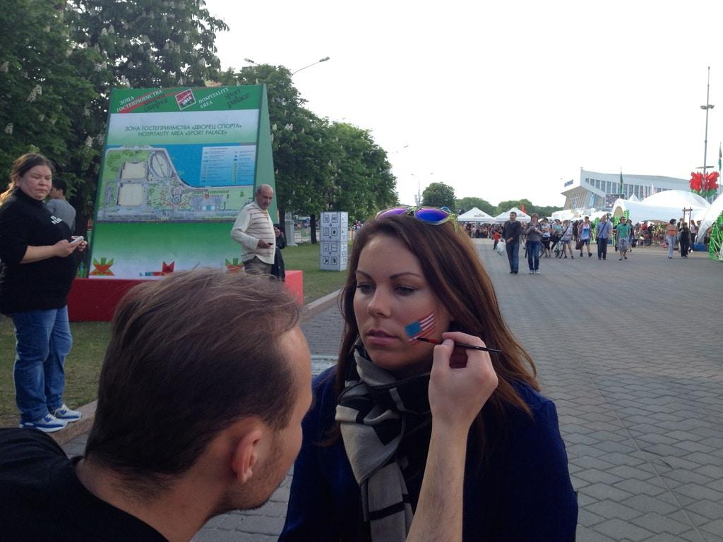 Face painting in Minsk, Belarus
