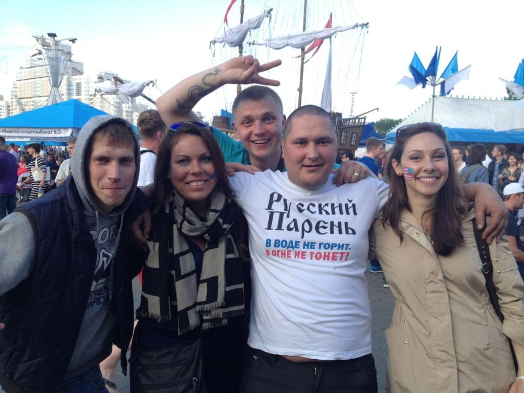 Russian fans with us in Minsk, Belarus