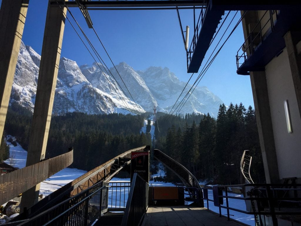The cable car to the top of Zugspitze near Garmisch-Partenkirchen, Germany