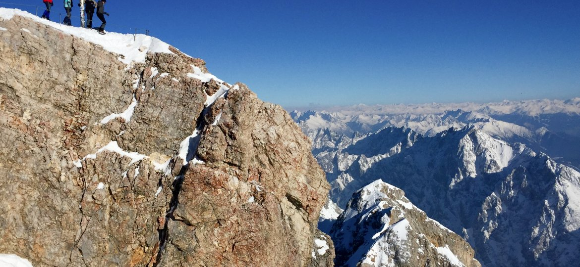 The tallest mountain in Germany, Zugspitze