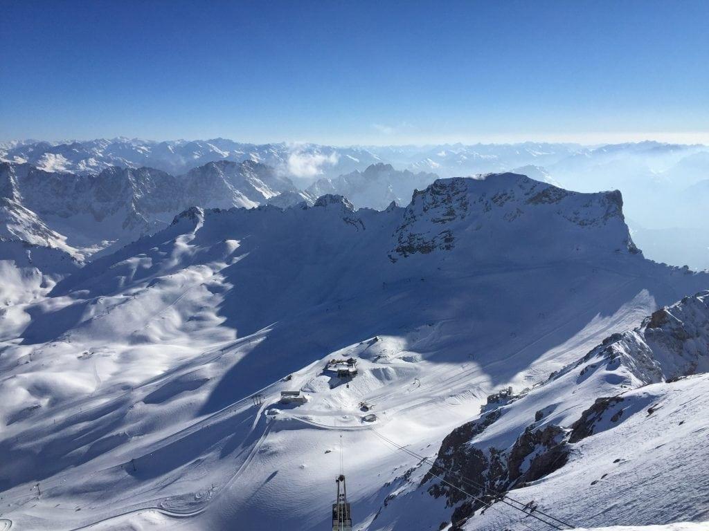 Atop Zugspitze near Garmisch-Partenkirchen, Germany