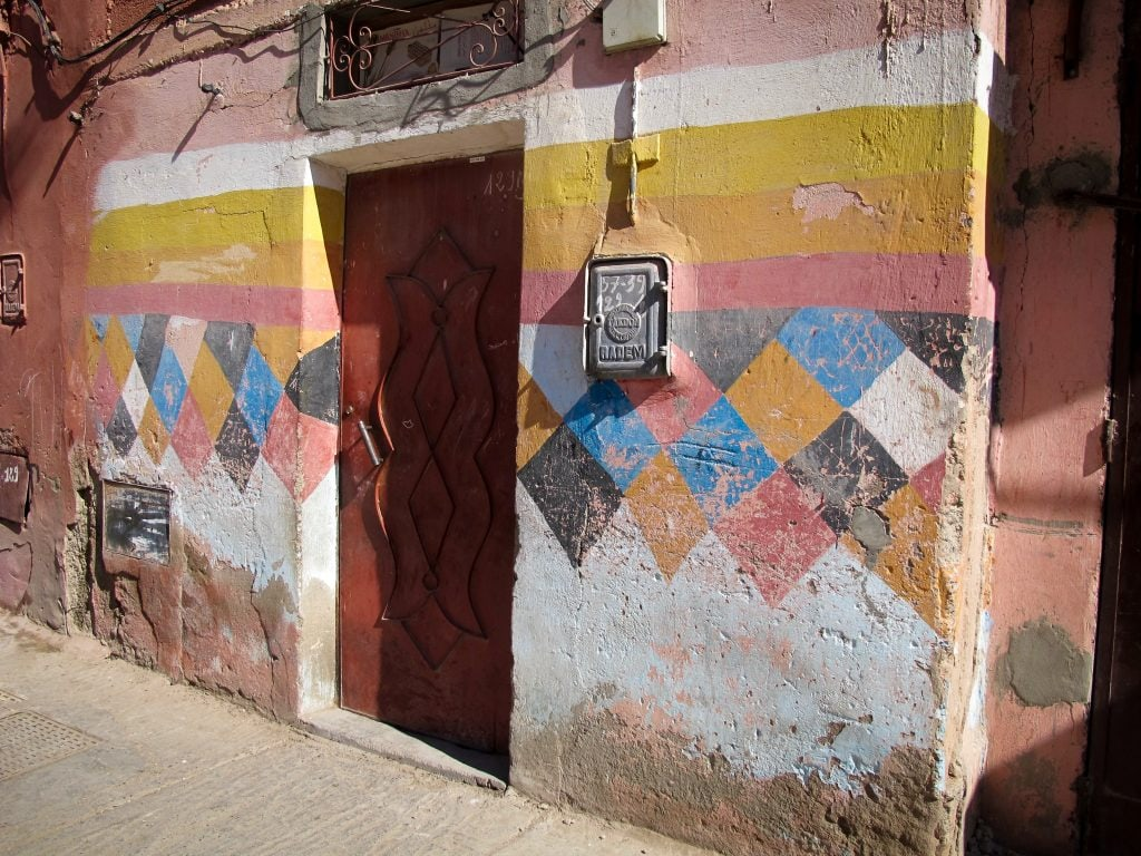 Colorful streets in Marrakech, Morocco