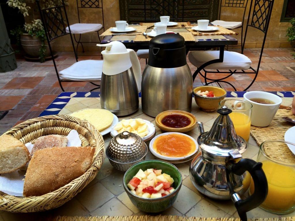 Breakfast in Marrakech, Morocco