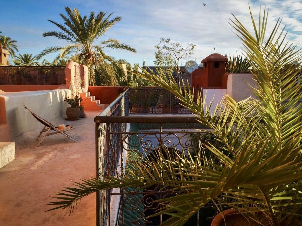 Atop Riad Dar Nimbus in Marrakech, Morocco