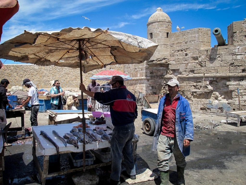 Fish market in Essaouira, Morocco