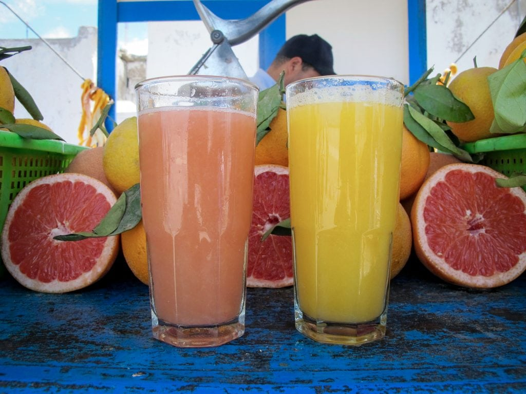 Juice in Essaouira, Morocco