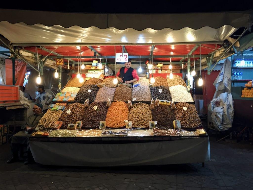 Jemaa el-Fnaa night market in Marrakech, Morocco